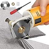 4YANG Elektrische Schere Elektrische Stoffschere Stoffschneidemaschine Electric Rotary Cutter for Fabric Papier Stoff Klingengröße: 70 mm Maximale Schnittdicke: 25 mm