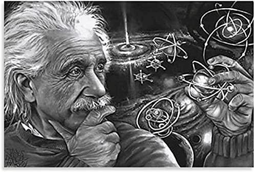 REGF Cuadro En Lienzo 60x80cm Sin Marco Cuadro Decorativo del Dormitorio del Cartel de la Sala de Estar de Albert Einstein