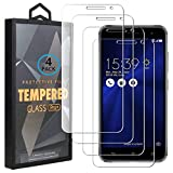 Ycloud 4 Pack Vidrio Templado Protector para ASUS Zenfone 3 ZE520KL, [9H Dureza, Anti-Scratch] Transparente Screen Protector Cristal Templado para ASUS Zenfone 3 ZE520KL