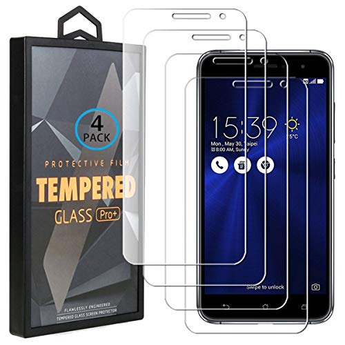 Ycloud 4 Pack Vidrio Templado Protector para ASUS Zenfone 3 ZE520KL, [9H...