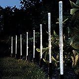 Demiawaking 8X Led Kristall Blase Solar betriebene Lampen Garten Stick Lichter Border Path