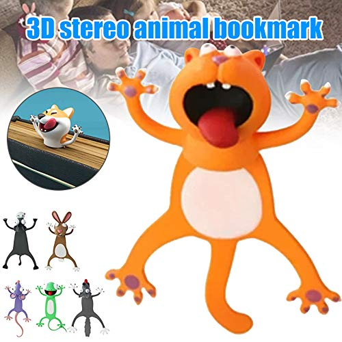 Keepbest Wacky Bookmark for More Fun Reading 3D Stereo Cartoon Lovely Animal Bookmark Wacky Bookmark