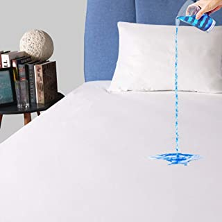 Full Size Waterproof Mattress Protector, Premium Breathable Mattress Cover, Safe Fitted Bed Cover