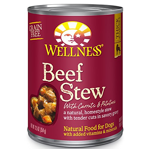 Wellness Beef Stew with Carrots & Potatoes Grain-Free Canned Dog Food, 12.5 Ounces, Pack of 12