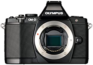 Olympus OM-D E-M5 16MP Live MOS Mirrorless Digital Camera with 3.0-Inch Tilting OLED Touchscreen [Body Only] (Black) (Disc...