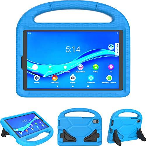 TeeFity Kids Case for Lenovo Tab M8 HD/Smart Tab M8 / Tab M8 FHD 2019 Tablet, Shockproof Light Weight Protective Stand Case for Lenovo Tab M8 TB-8505F TB-8505X TB-8705F TB-8705N 2019 Tablet, Blue