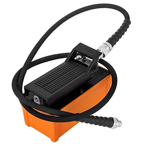 HODOY Pompa idraulica pneumatica con Il Kit della Pompa idraulica della Linea d'Aria con la Pompa idraulica dell'Aria del Pedale 10000 PSI (Pompa idraulica con Tubo Flessibile)
