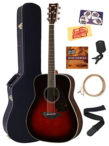 Yamaha FG830 Solid Top Folk Acoustic Guitar - Tobacco...