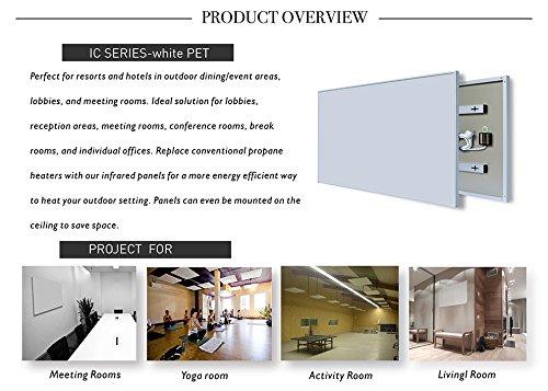 ColdFighting Geringer Rabatt 600 * 1000mm 600W Bild Fernes Infrarot -Panel Elektrische Heizung Wand Heizung Bild 4*
