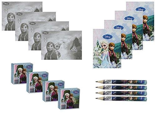 Unique Party 72125 - Disney Frozen Activity Pack Party Bag Fillers, 4 Sets