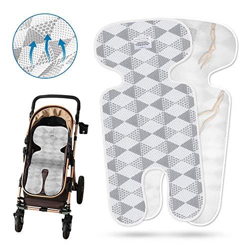 Sitzeinlage, Coquimbo Baby Sitzauflage Kinderwagen Universal Atmungsaktive Sitzbezug für Buggy, Kindersitz und Babyschale (Grau)
