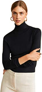 Mock Turtleneck for Women Knit Pullover Sweater Basic Lightweight Layer Top Classic Ribbed Jumper Shirt