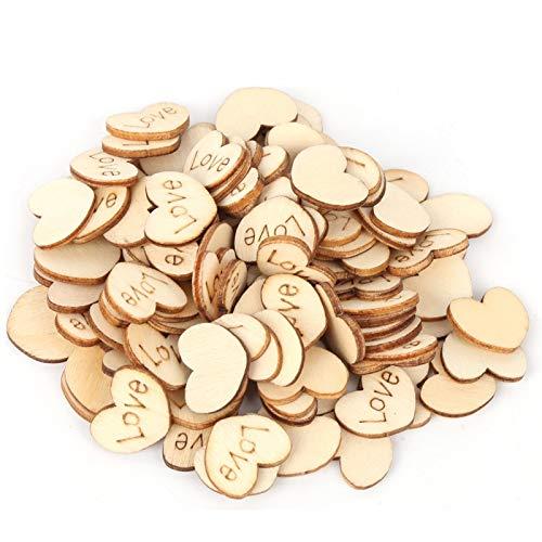 Decoración de boda de bricolaje Botón de madera Artesanía Botón de madera en forma de corazón, Aspecto compacto hecho a mano Gran mano de obra Exquisito para fiestas de(32L=20.0 MM)