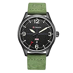 50%OFF CURREN Men Watches Multifunctional Military Sport Wristwatch Waterproof Leather Strap