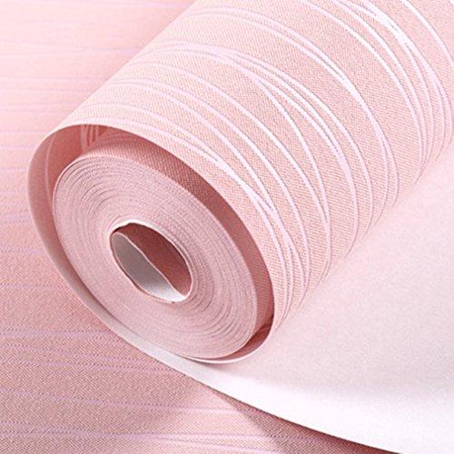 N/V Papel pintado de rayas para el hogar, moderno dormitorio, papel de pared para decoración de sala de estar rollo adhesivo para el hogar