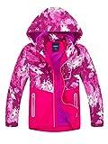 LAUSONS Kinder Gefütterte Jacke Jungen Übergangsjacken für Jungs Softshelljacken mit Camouflage Muster Rot DE: 152-158 (Herstellergröße 150)