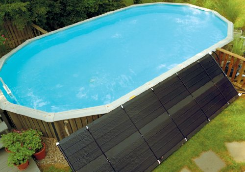 SunHeater Solar Pool Heating System, Two 2' x 20' Panels – Solar Swimming Pool Heater For...