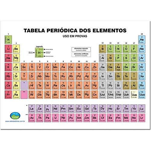 Tabela Periódica Escolar 15 x 21.5 cm + Minitabela x 10 Unidades, Vale das Letras 1040, Multicor, Pacote de 1