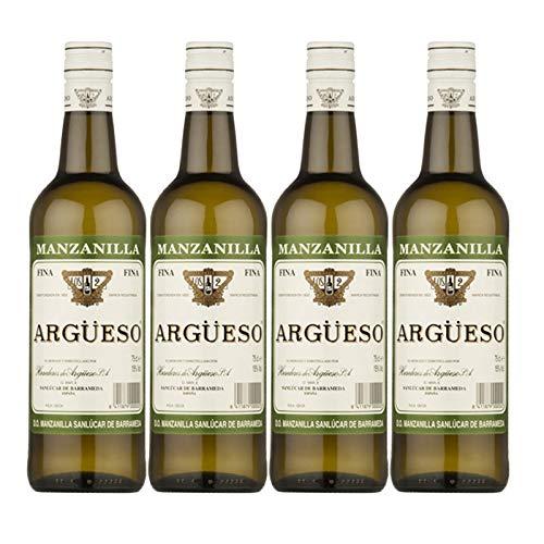Wein Manzanilla Fina Argüeso 75 cl - D.O. Manzanilla-Sanlucar de Barrameda - Bodegas Argüeso (4 Flaschen)
