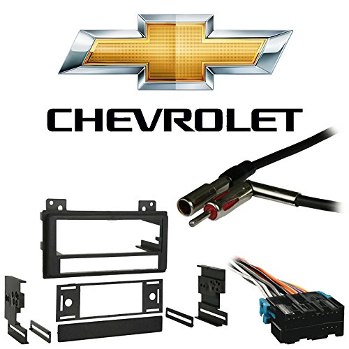 Compatible with Chevy S 10 Pickup 1994 1995 1996 1997 Single DIN Stereo Harness Radio Install Dash Kit Package
