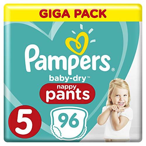 Pampers Baby-Dry Pants/Windeln, Größe 5, mit Luftkanälen, 96 Stück