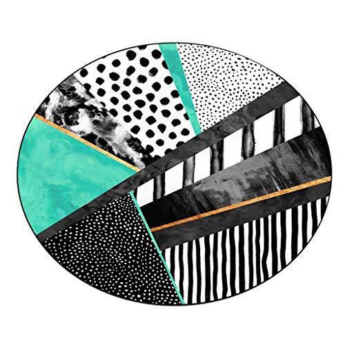 Flashing- Tapis Rond de Style européen de géométrie fraîche Facile à Nettoyer la saleté décoloration (Couleur : #1, Taille : 60 * 60cm)