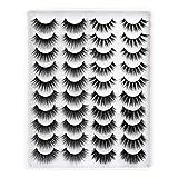 20 Pairs Faux Mink Lashes 4 Styles Natural Wispy False Eyelashes Dramatic Full Volume Lashes Pack