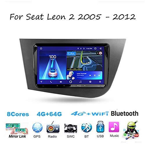 TypeBuilt para Seat Leon 2 2005-2012 Autorradio Autoestereo Estéreo 9 Inch Pantalla Táctil Capacitiva Supporto GPS Navegación Cámara De Respaldo Estéreo Audio FM/Am/RDS Video Player SWC