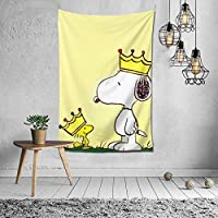Snoopy Tapestry, Interior, Stylish, Room Decoration, Wall Decor, Art, Popular, Wall Hanging, Decorative, Decorative Supplies, Home, Bedroom, Room Window Curtain, Cute, Northern Europe, Curtain, Background, Celebration, Present, Mother's Day, Cold Protection, Multi-Function