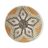 Natural Woven Fruit Basket Bowl, Handmade Seagrass Decorative Bowl Chic Rustic Boho Decor Wall Hanging, Great Housewarming Gift (Star Flower 1, 1)