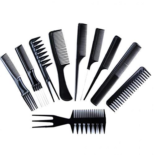 Set Peigne Professionnel De 10 Coiffeurs Variété De Saveurs Est Idéal Pour Tous Les Types De Cheveux Et Styles Noirs