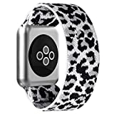 BMBEAR Stretchy Strap Loop Compatible with Apple Watch Band 38mm 40mm iWatch Series 6/5/4/3/2/1 Snow Leopard