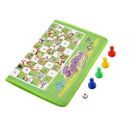 Funnyrunstore Juego Padre-Hijo Alfombra no Tejida ajedrez Serpiente y escaleras disfrutan de la diversión Familiar Multicolor