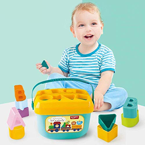 SOLANKI SALES Play Kids Shape Sorter Baby and Toddler Toy, ABC and Shape Pieces, Sorting Shape Game, Developmental Toy for Children's
