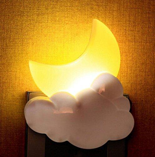 Lumière de nuit LED Contrôle de la lumière Lumière du capteur Chevet Plug in Créatif Économie d'énergie Mini Fantasy noctilucent Décoration, moon