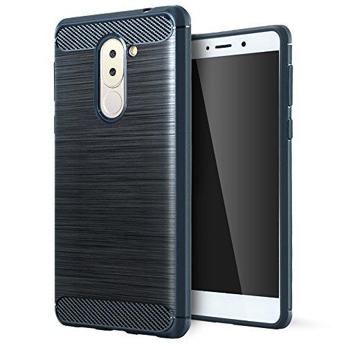 Huawei Honor 6x Cover,Huawei Honor 6x Custodia,Lizimandu Creative 3D Schema UltraSlim TPU Silikon Shock-Absorption Copertura Della Cassa Del Custodia Case Tacsa Protettiva Shell per Huawei Honor 6x(Azzurro/Blue)