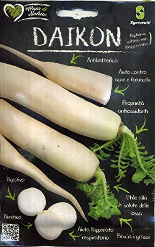 Sgaravatti Cuor di salute sementi da orto in bustina termosaldata (DAIKON - Raphanus sativus)