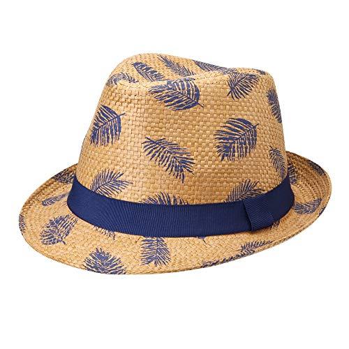 Michael Heinen Sombrero de paja para hombre y mujer, sombrero de verano Trilby Panamahut, sombrero de playa, sombrero de fiesta