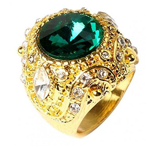 Amesii, anello da uomo vintage di lusso, color oro, corona, misura 7 - 10