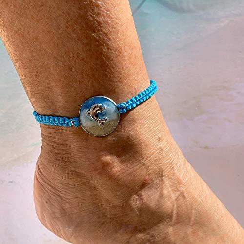 Samudra– Delphin Armband | Unisex | Makramee Fußkette | Surfer Schmuck | Boho | Armbänder Für Sie Und Ihn | BR05