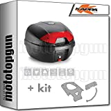 kappa maleta k30n 30 lt + portaequipaje monolock compatible con yamaha n max...