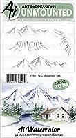 ART IMPRESSIONS 5198 AI ラバースタンプセット マンテン WC Mountain