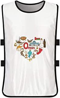 DIYthinker Oman Love Heart Landscap - Playera de Entrenamiento con Bandera Nacional, Color Blanco