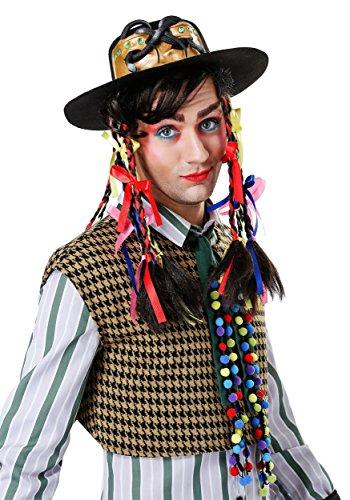 Men's Chameleon Pop Star Hat with Wig