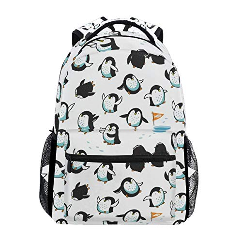 College Bag Arctic Penguins Bookbag Student Stylish Shoulder Bag Casual Printed Travel Backpack School College Lightweight Gift Unique Durable