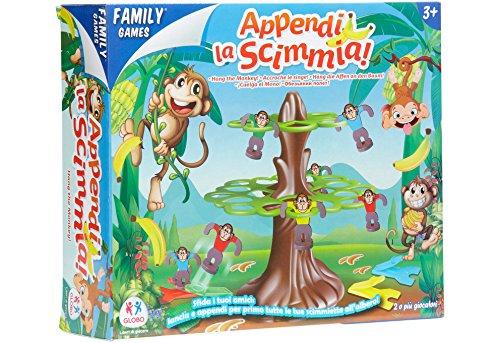Globo- Familygames Gioco delle Scimmie, Multicolore, Globo-33847