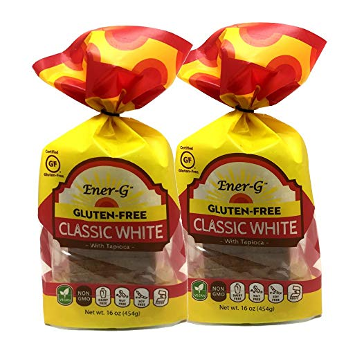 Classic White Gluten Free Bread by Ener-G   Vegan Sliced Bread Loaf   Low-Protein, Non-GMO, Kosher   Double Pack 16 oz/ 12 Slice Loaf