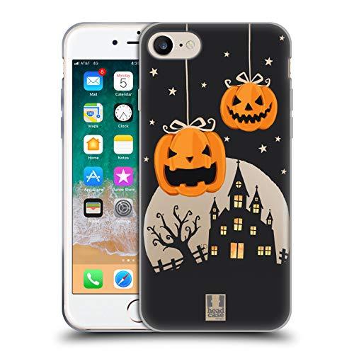 Head Case Designs Zucche E Un Castello Personaggi Halloween Cover in Morbido Gel e Sfondo di Design Abbinato Compatibile con Apple iPhone 7 / iPhone 8 / iPhone SE 2020