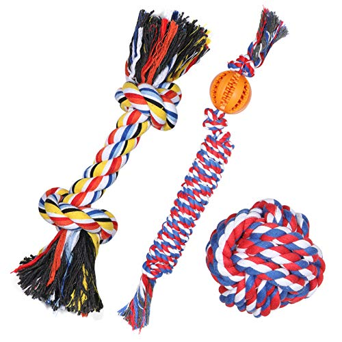 DELOMO Dog Rope Toy, 3 Pack Dog Chew Toys, Durable...