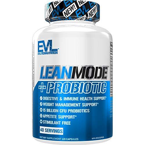 Evlution Nutrition Leanmode + Probiotic, Advanced Probiotic Capsule Supplement, 15 Billion CFUs per Serving, Digestive Support & Gut Health (40 Servings)